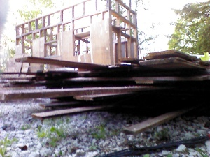 I still haven't re=stacked the barn wood