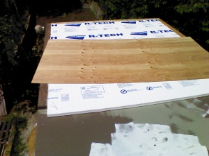 Covering the foam with thin CDX plywood