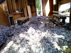 Another view of the mound of wool.  It's almost dry!!!!