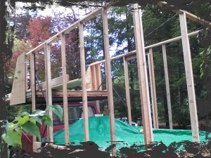 Still to be done is framing for the windows on the rear, and all the very front and roof framing.