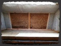 Loft fully insulated except for window locations.